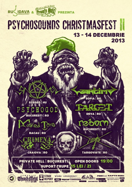Psychosounds Christmas Fest Ii - Bucharest, Private Hell Club