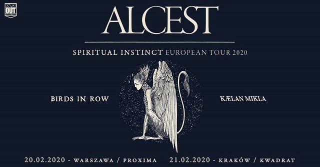 Alcest + Birds In Row, Kaelan Mikla - Kraków, Kwadrat