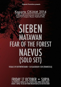 Sieben + Matawan + Fear of the Forest + Lloyd James