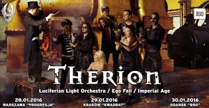 Therion + Luciferian Light Orchestra, Ego Fall, Imperial Age w Krakowie