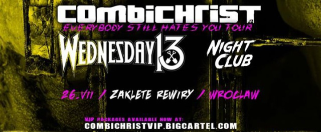 Combichrist, Wednesday 13, Night Club / Everybody Still Hates You Tour